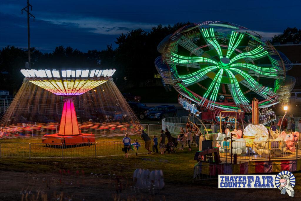 Ozark Amusements at the Thayer County Fair